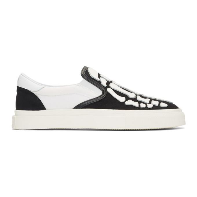 Amiri Black & White Bones Slip-On Sneakers