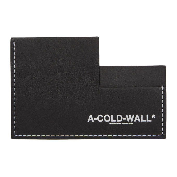 Image of A-Cold-Wall* Black Asymmetric Card Holder