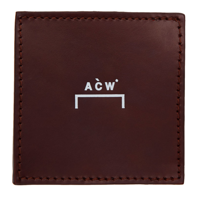 A Cold Wall* Burgundy Leather Coin Wallet