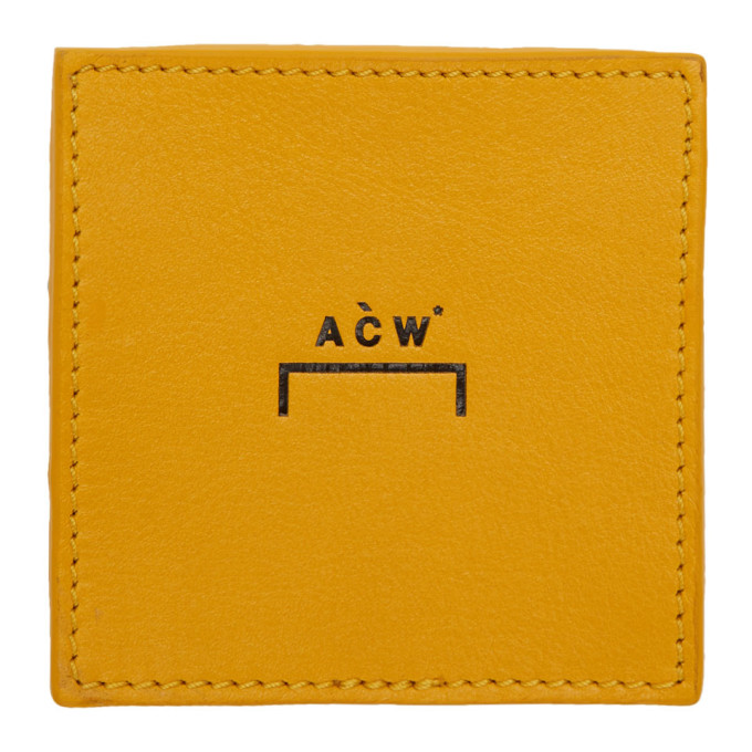 A Cold Wall* Yellow Leather Coin Wallet