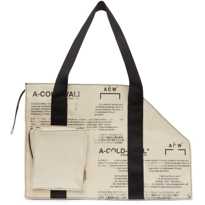 A Cold Wall* Off White Canvas V2 Tote