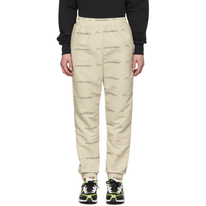 Image of A-Cold-Wall* Beige Basic Logo Lounge Pants