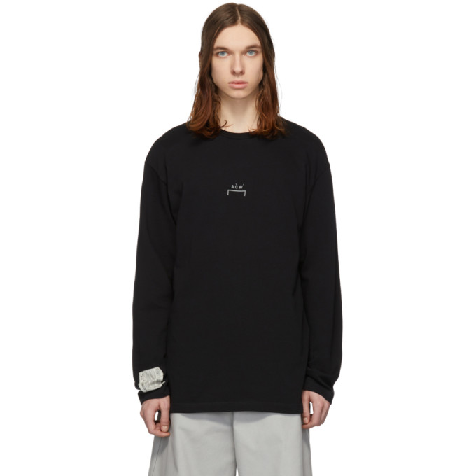 Image of A-Cold-Wall* Black Bracket Long Sleeve T-Shirt