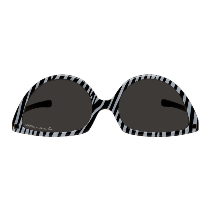Martine Rose Black & White Mykita Edition Zebra SOS Sunglasses
