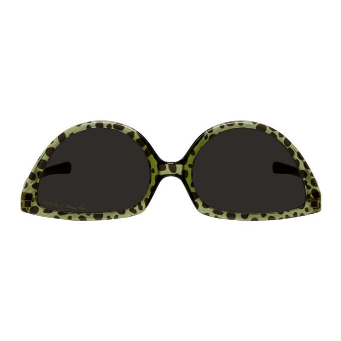 Martine Rose Green & Black Mykita Edition Leopard SOS Sunglasses