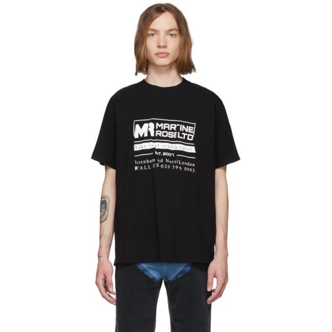 Martine Rose T-shirts MARTINE ROSE BLACK WOBBLY LOGO T-SHIRT