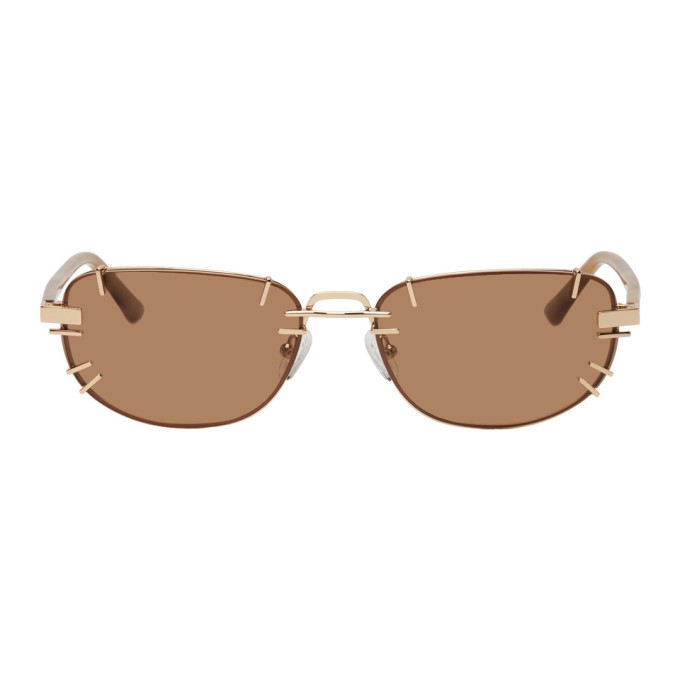 Y/Project Gold Linda Farrow Edition Trinity Sunglasses