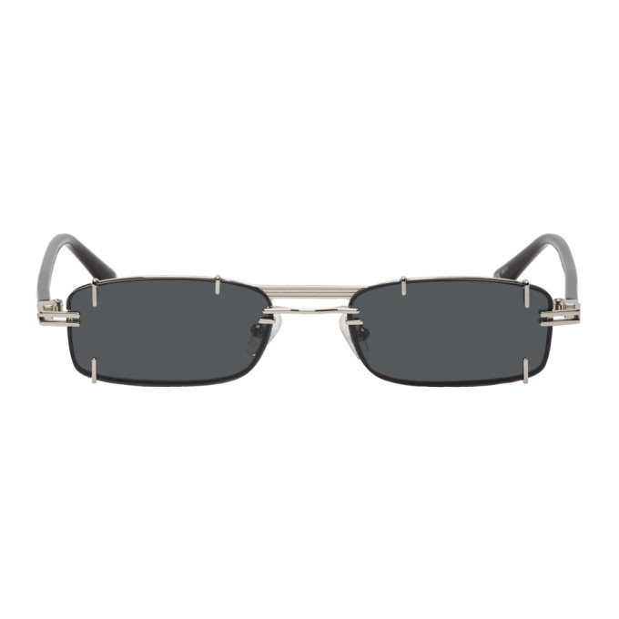 Y/Project Silver & Black Linda Farrow Edition Neo Sunglasses
