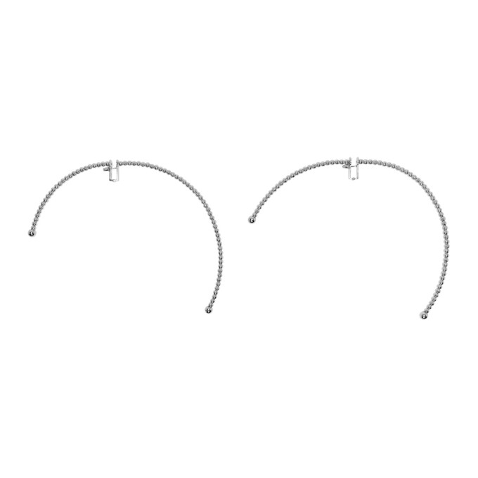 Y/Project Silver Semi-Hoop Earrings