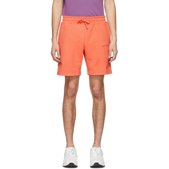 Aime Leon Dore Orange French Terry Logo Shorts