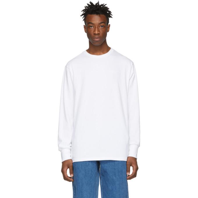 Aime Leon Dore White Logo Long Sleeve T-Shirt
