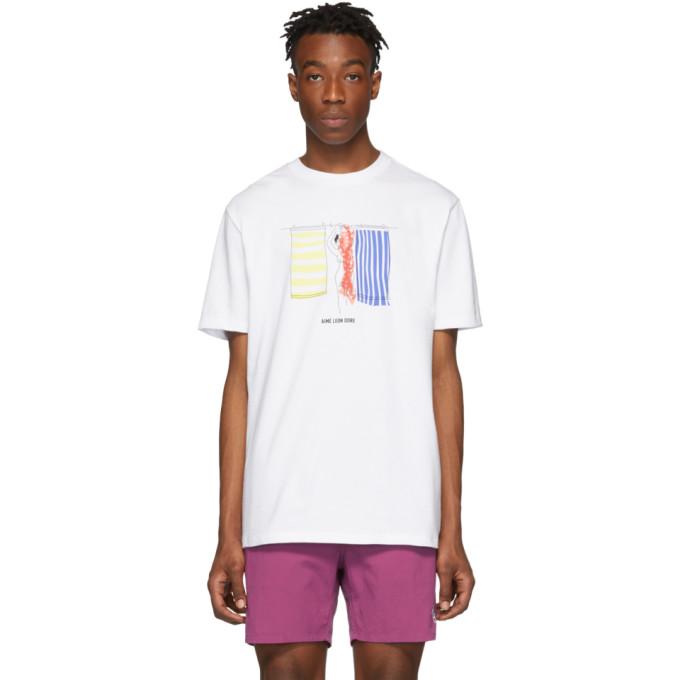 1b69d45261 AIME LEON DORE | Aime Leon Dore White Hanging Towels T-Shirt | Goxip