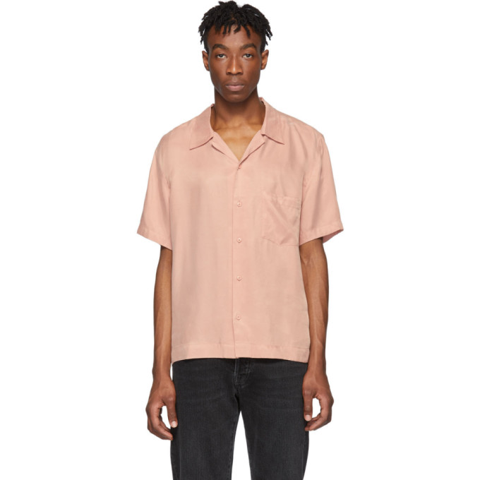 Rochambeau Chemise a manches courtes rose