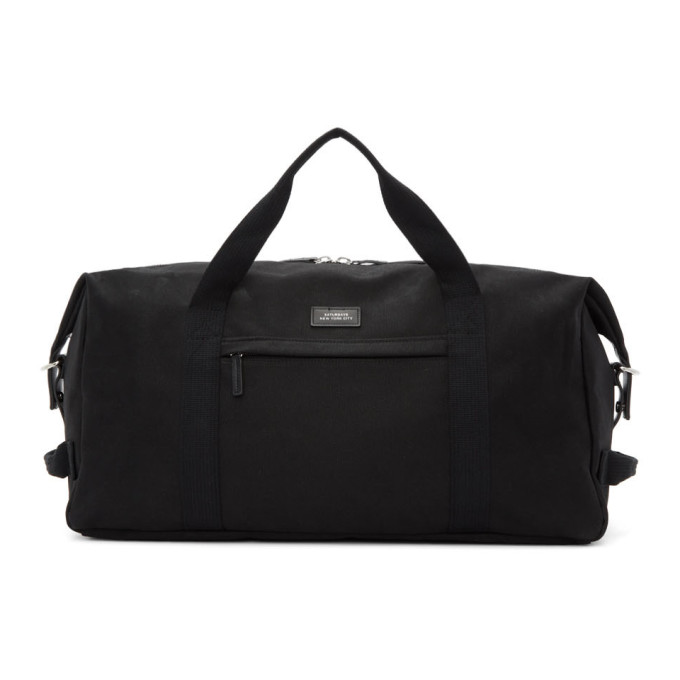 SATURDAYS NYC | Saturdays NYC Black Norfolk Hold All Duffle Bag | Goxip