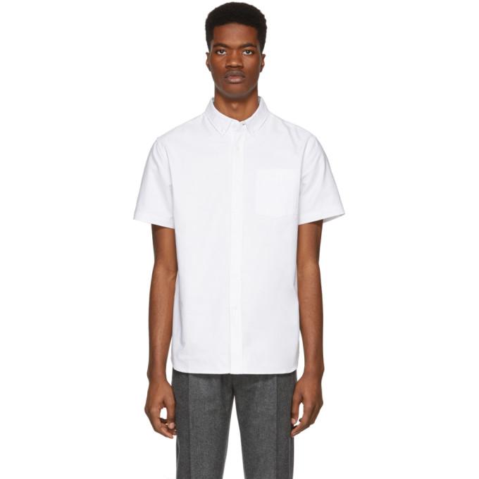 Saturdays NYC ホワイト オックスフォード Esquina シャツ
