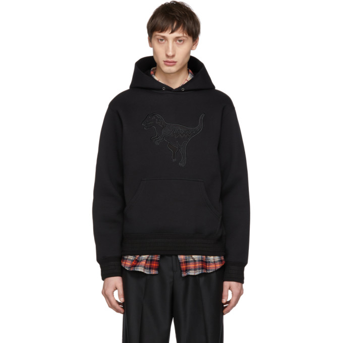 Image of Coach 1941 Black Blackout Rexy Hoodie