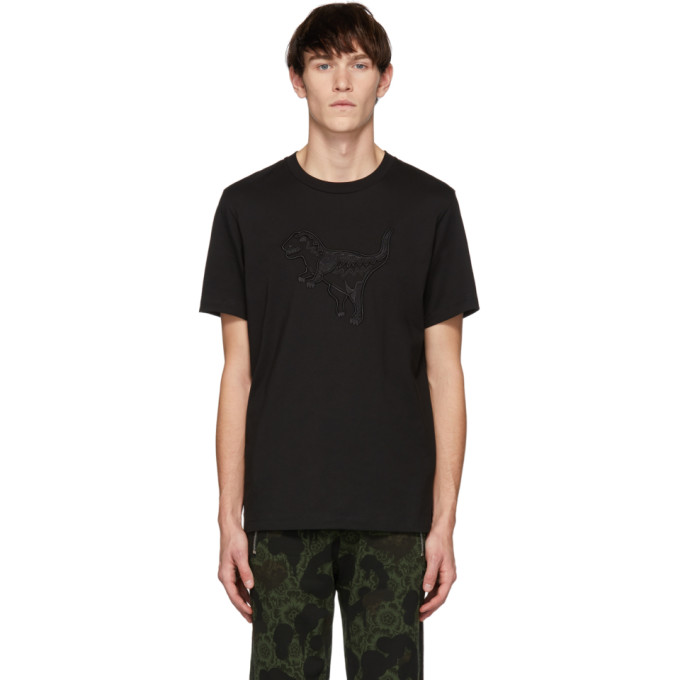 Image of Coach 1941 Black Embroidered Rexy T-Shirt
