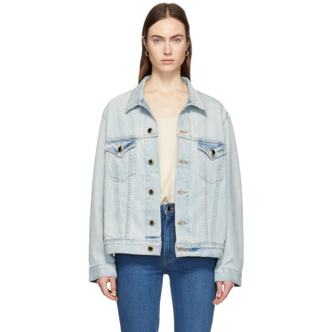 KHAITE Cate Oversized Denim Jacket in 012 London
