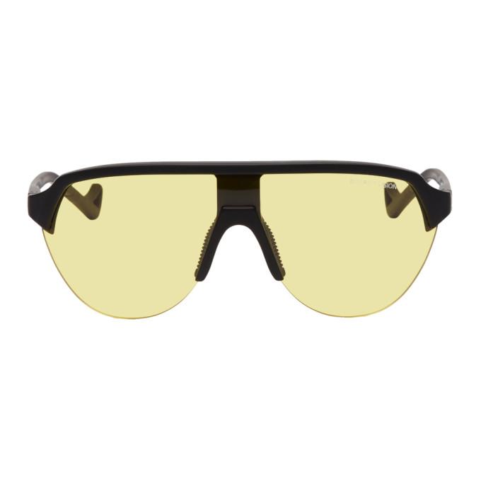 Image of District Vision Black & Yellow Nagata Speed Blade Sunglasses