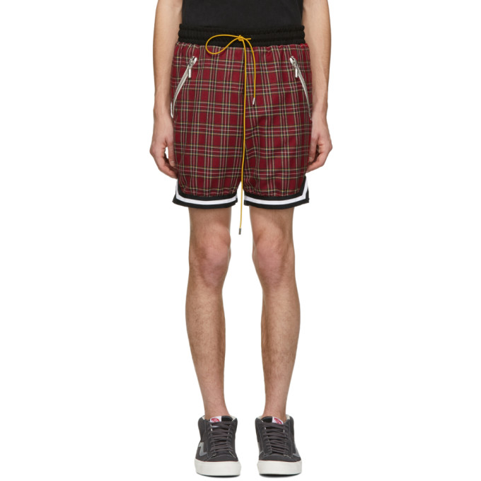 RHUDE Basketball Shorts in Red