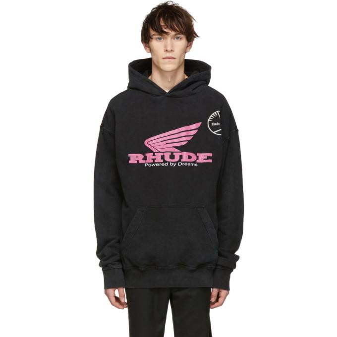 Image of Rhude Black Logo Hoodie