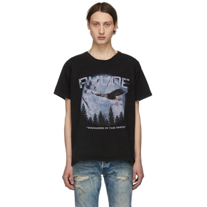 Rhude T-shirts RHUDE BLACK PARADISE T-SHIRT