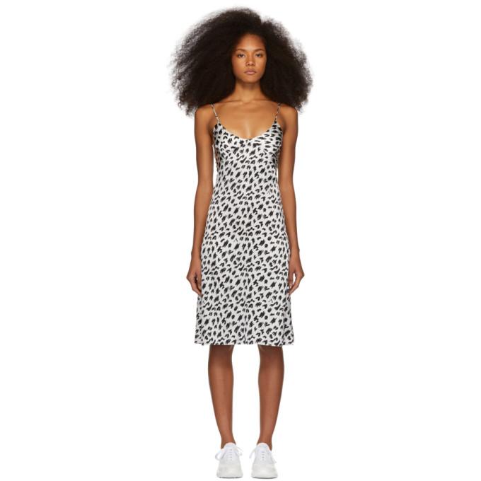 Ashley Williams Fond de robe en soie blanc et noir exclusif a SSENSE