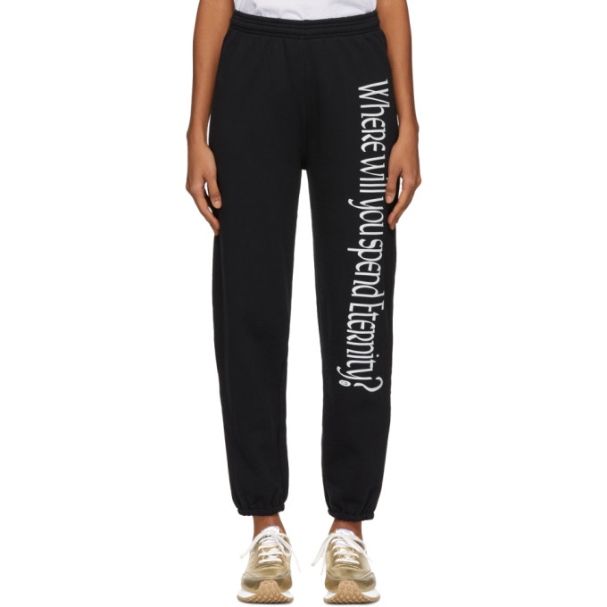 Image of Ashley Williams Black 'Where Will You Spend Eternity?' Lounge Pants