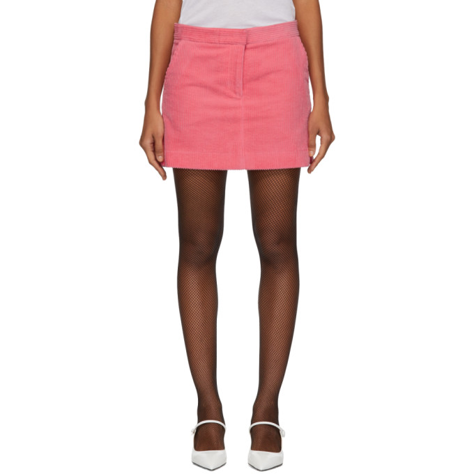 Ashley Williams Mini-jupe en velours cotele rose Executive