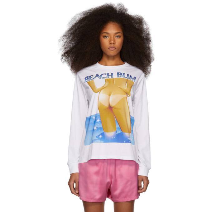 Ashley Williams T-shirts WHITE 'BEACH BUM' T-SHIRT