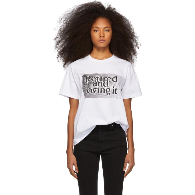 Ashley Williams T-shirts ASHLEY WILLIAMS WHITE RETIRED AND LOVING IT T-SHIRT