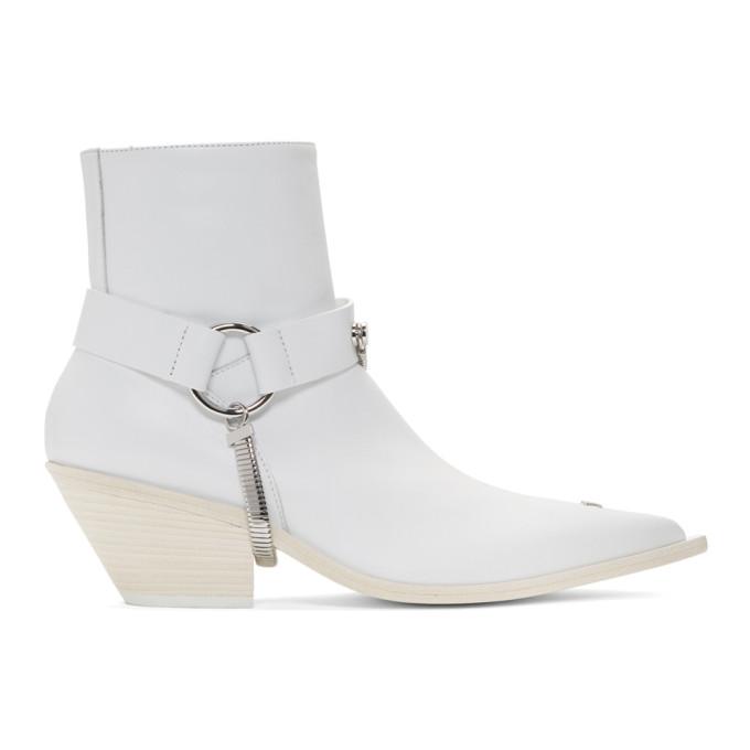MISBHV | MISBHV White Cowboy Boots | Goxip
