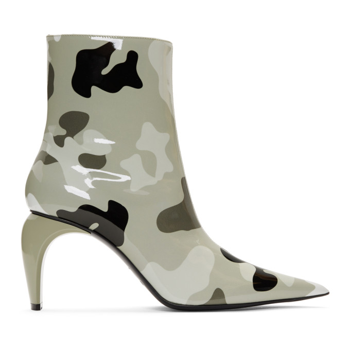 MISBHV | MISBHV Grey Camo Vinyl Slicer Boots | Goxip