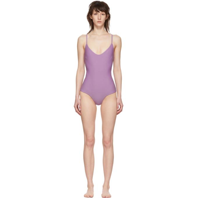 MATTEAU | Matteau Purple The Scoop One-Piece Swimsuit | Goxip