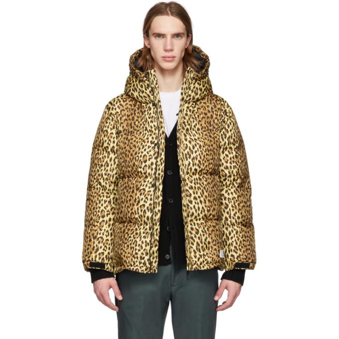 WACKO MARIA Wacko Maria Brown Down Leopard Hooded Jacket