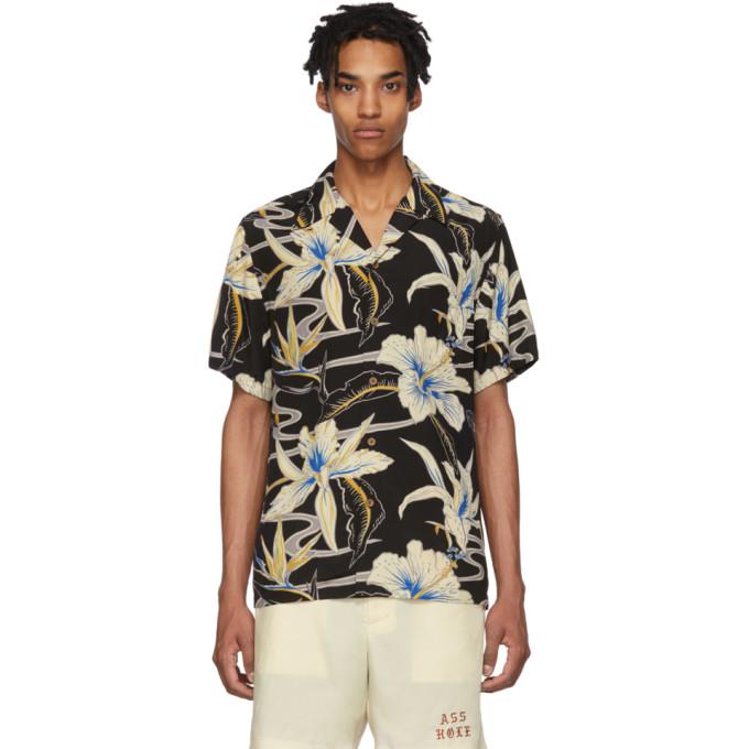 dab6fd59 WACKO MARIA. Wacko Maria Black Graphic Hawaiian Shirt