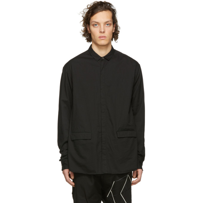 The Viridi-anne ブラック ポケット シャツ