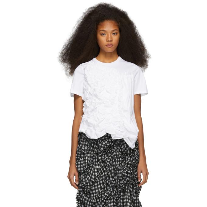 Chika Kisada T-shirt a volants et fronces blanc