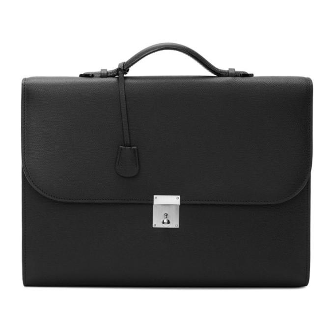 Valextra Black Portfolio Briefcase