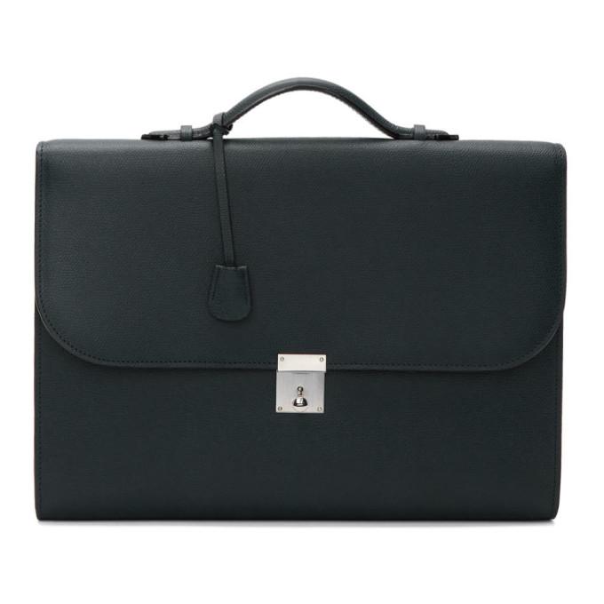 Valextra Navy Portfolio Briefcase