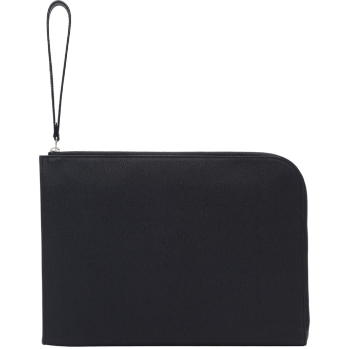 Valextra Black Leather Portfolio