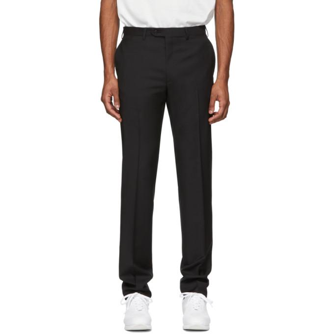 Image of Brioni Black Megeve Slim Trousers
