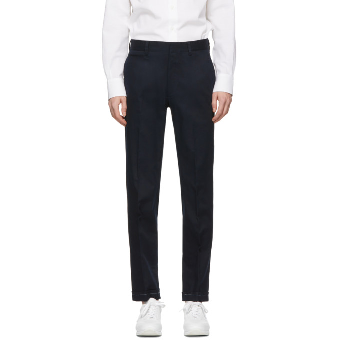 Image of Brioni Blue Chino Trousers