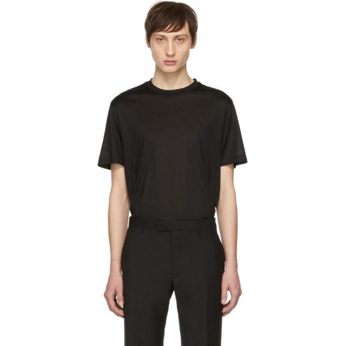 Image of Brioni Black Silk T-Shirt