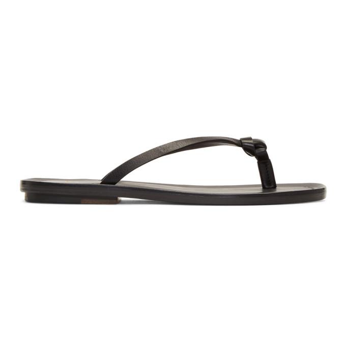 Image of Brioni Black Thong Sandals