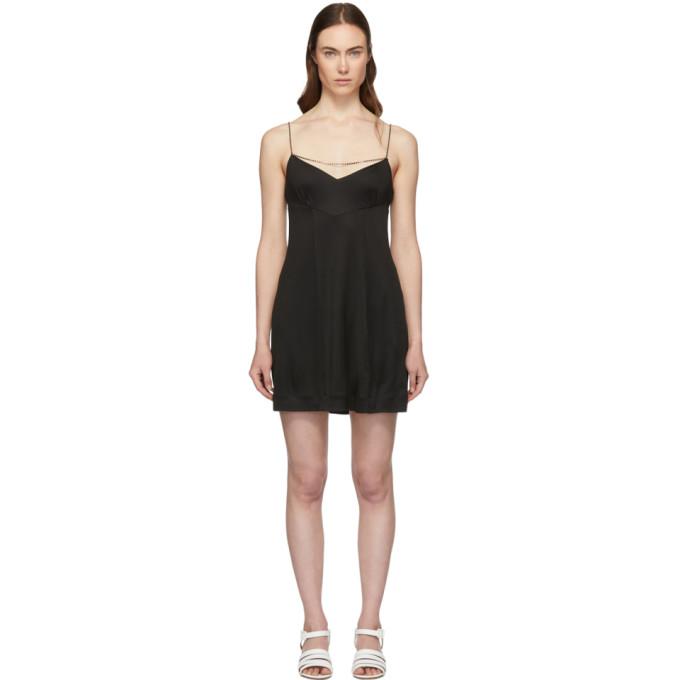Image of Alexachung Black Jersey Kate Slip Dress