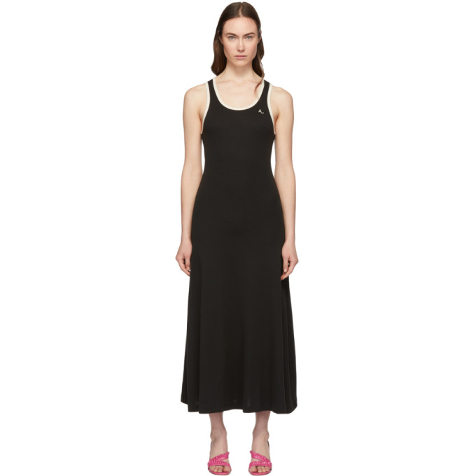 Image of Alexachung Black Jersey Ringer Dress
