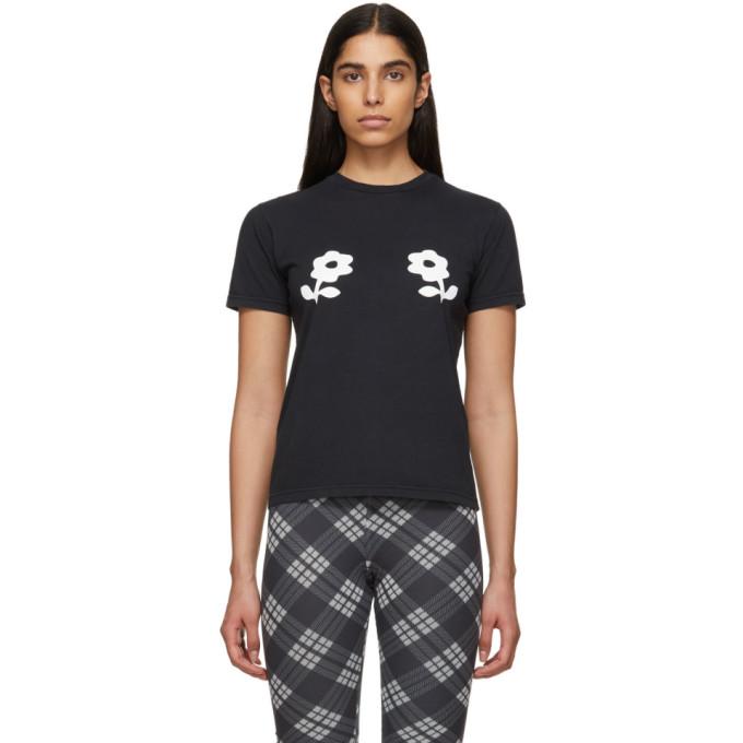 Image of Alexachung Black Double Daisy T-Shirt