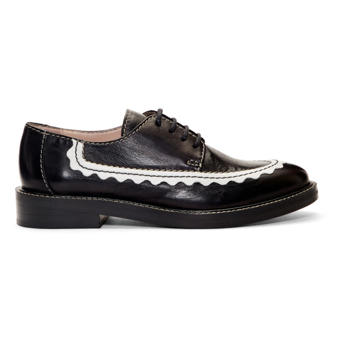 Alexachung Black AC-30 Oxfords