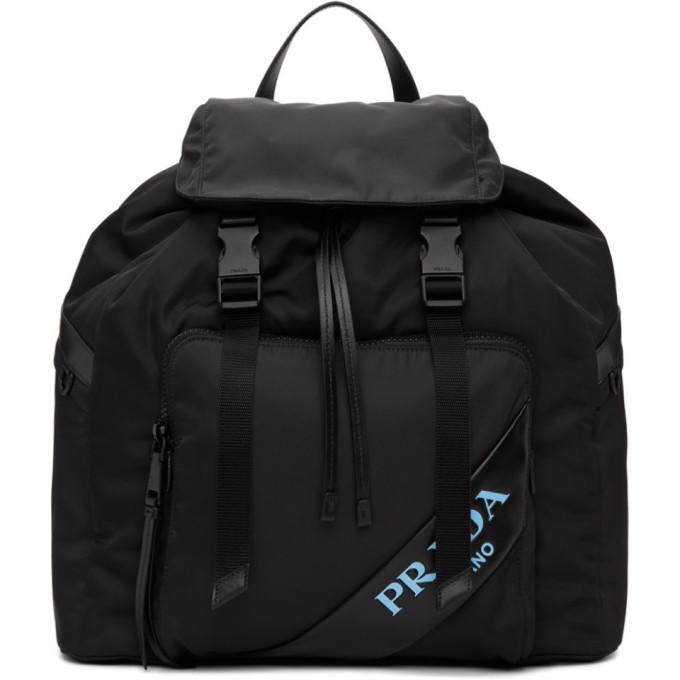 Prada Black Mirage Backpack